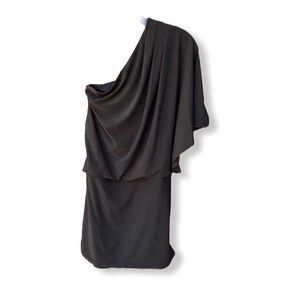 Jessica Simpson One Shoulder Draped Dress Black
